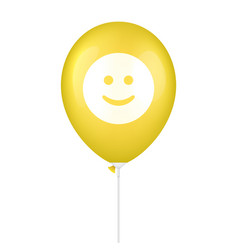 yellow smile printed balloon vector image