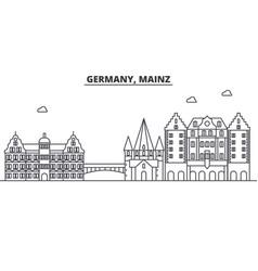 germany mainz architecture line skyline vector image