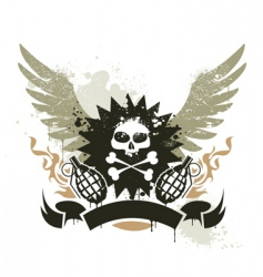 grunge gang design vector image