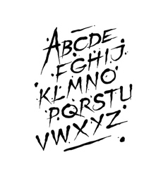 Hand drawn ink font editable alphabet vector