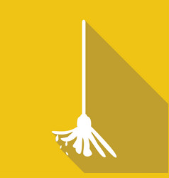 Icon mop the floor with a long shadow vector