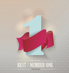 Best quality original product number one vector image