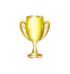 realistic golden cup trophy isolated vector image
