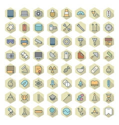 Thin Line Icons For Technology Industry Science vector image