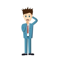 Unsuccessful businessman icon cartoon style vector image