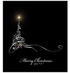 Beauty Christmas tree from light background vector image vector image