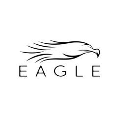 Bird eagle abstract design template vector