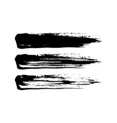 grunge paint brush stroke set vector image vector image