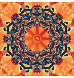 mandala decorative background Template frame vector image vector image