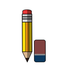 pencil with eraser vector image vector image