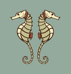 seahorse logo icon vector image vector image