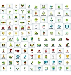 Abstract logo mega collection vector image