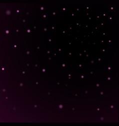 Light stars on black background vector