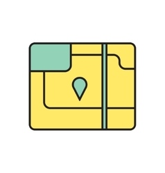 map icon Eps10 vector image vector image