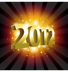 Year 2012 vector image vector image