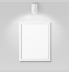 3d realistic a4 white wooden simple modern vector