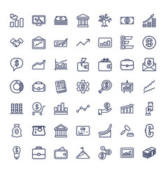 49 finance icons vector