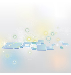 Abstract background with clip art squares vector image