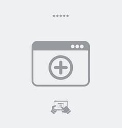 Add new panel - web icon vector