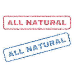 All natural textile stamps vector