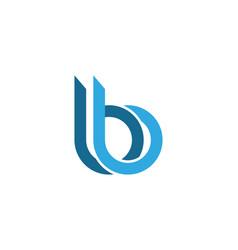 B letter logo template vector