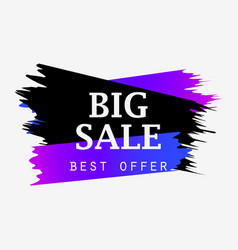 big sale banner with gradient paint strokes best vector image