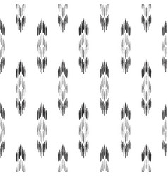 black and white ikat seamless pattern vector image