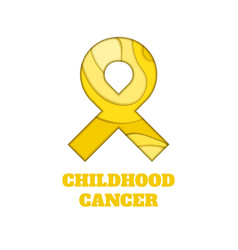 Childhood cancer awareness papercut ribbon vector