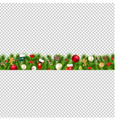 Christmas border isolated transparent background vector