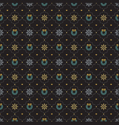 Christmas retro seamless pattern background vector