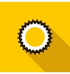 Cogwheel icon flat style vector image