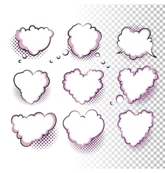 Comic Valentine Hearts vector image