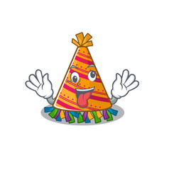 Crazy party hat in a above mascot vector