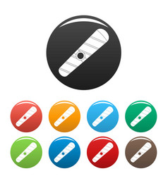 cuban havana icons set color vector image
