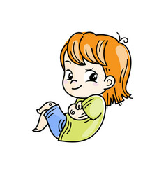 Cute cartoon kids and vector