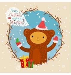 Cute cartoon monkey vector image