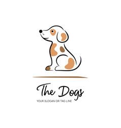 cute creative dog logo design template vector image