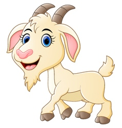 Cute goat cartoon vector image vector image