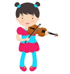 Cute violinist vector