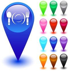 Dinner button vector image