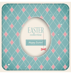 Easter Retro Card vector