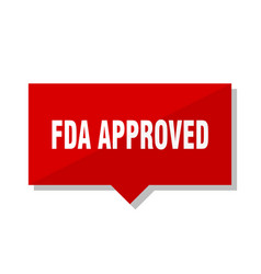 Fda approved red tag vector