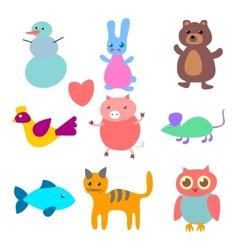 Figures of animals vector