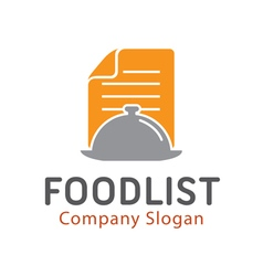 Food List Design vector image
