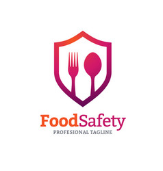 food safety logo vector image