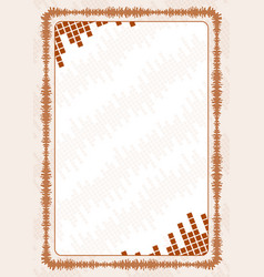 Frame and border with brown volume levels for vector