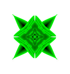 green flower on a white background vector image