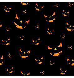 Halloween seamless pattern pumpkins scary face vector