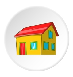 House with attic icon cartoon style vector