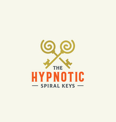 hypnotic spiral keys abstract sign symbol vector image